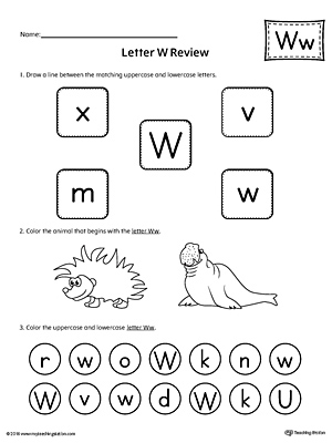 Letter W Printable Template