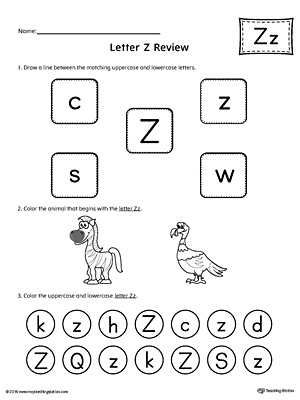 alphabet letter hunt letter z worksheet. Black Bedroom Furniture Sets. Home Design Ideas