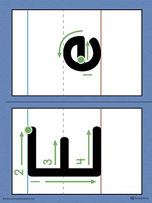 Kindergarten writing printable worksheets myteachingstation alphabet letter e formation card printable color spiritdancerdesigns Image collections