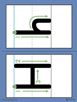 Use the Alphabet Letter H Formation Printable Card to help your child build handwriting confidence by teaching the correct letter formation guidelines from the very beginning.