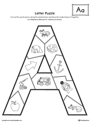 The Letter A Puzzle is perfect for helping students practice recognizing the shape of the letter A, and it