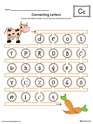 Lowercase Letter C Styles Worksheet Color