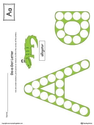 letter a do a dot worksheet color. Black Bedroom Furniture Sets. Home Design Ideas