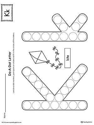 Letter K Do-A-Dot Worksheet | MyTeachingStation.com