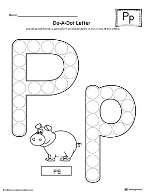 Letter P Tracing And Writing Letter Tiles
