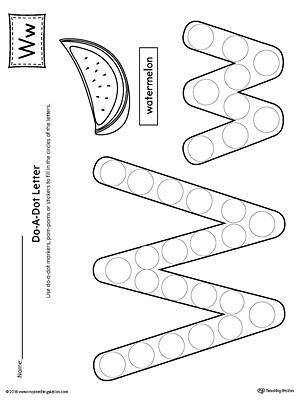 Letter W Do A Dot Worksheet