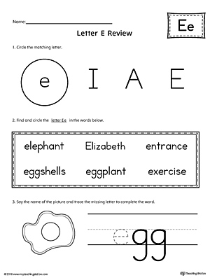 letter e tracing and writing printable worksheet. Black Bedroom Furniture Sets. Home Design Ideas