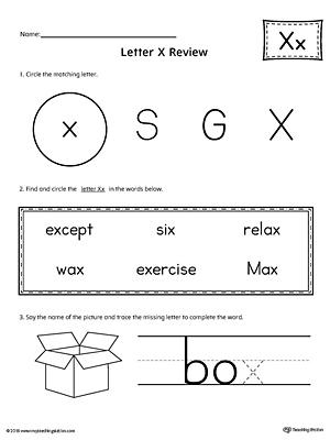 Lowercase Letter X Template Printable   MyTeachingStation.com