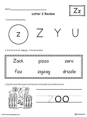 Letter Z Worksheets & Free Printables | Education.com