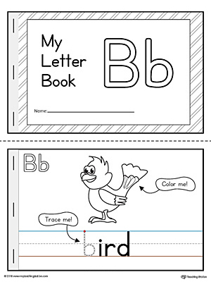 letter b cut and paste printable mini book. Black Bedroom Furniture Sets. Home Design Ideas