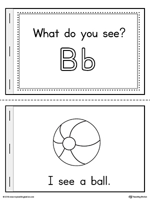 Practice beginning sounds with the Letter B Words Printable Mini Book.