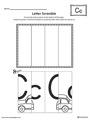 letter c words and pictures printable cards cookie can cut coat. Black Bedroom Furniture Sets. Home Design Ideas
