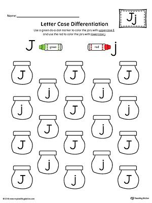 Uppercase Letter J Template Printable | MyTeachingStation.com