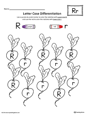 Preschool printable worksheets myteachingstation letter case recognition worksheet letter r ibookread Download