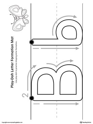 Letter Formation Play-Doh Mat: Letter B Printable