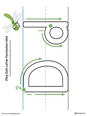 Letter Formation Play-Doh Mat: Letter D Printable (Color ...