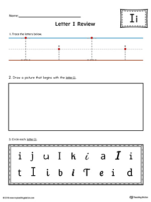 Use the Letter I Practice Worksheet to help your student identify and trace the letter I along with recognizing it