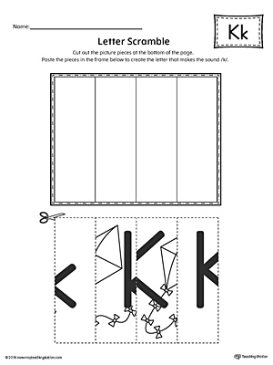 letter k scramble worksheet. Black Bedroom Furniture Sets. Home Design Ideas