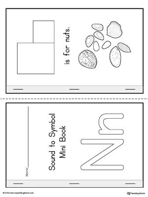Letter N Cut and Paste Printable Mini Book ...