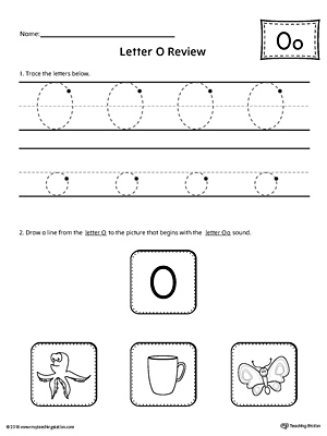 letter o worksheets trace letter o and connect pictures worksheet 33961