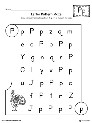Letter P Worksheets For Preschoolers Nurufunicaasl