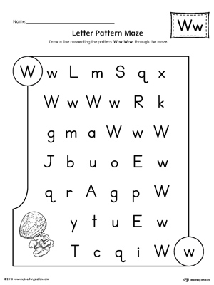circle the letter w worksheets for preschool circle best free printable worksheets. Black Bedroom Furniture Sets. Home Design Ideas
