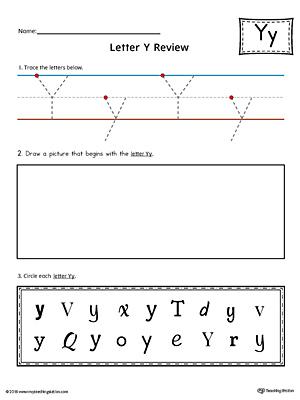 letter y practice worksheet. Black Bedroom Furniture Sets. Home Design Ideas