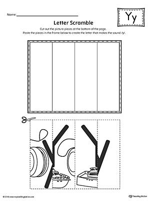 letter y scramble worksheet. Black Bedroom Furniture Sets. Home Design Ideas