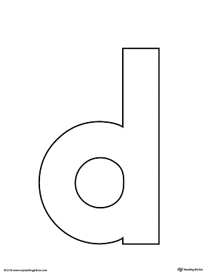 Lowercase Letter D Template Printable | MyTeachingStation.com