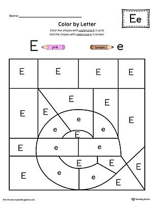 finding and connecting letters letter e worksheet color. Black Bedroom Furniture Sets. Home Design Ideas