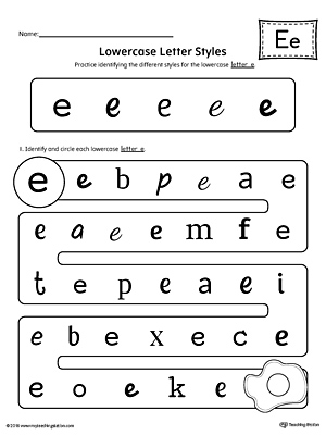 uppercase and lowercase letter e printable writing mat. Black Bedroom Furniture Sets. Home Design Ideas