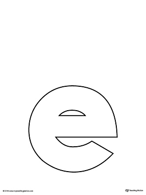 letter e template lowercase letter e template printable myteachingstation 36047