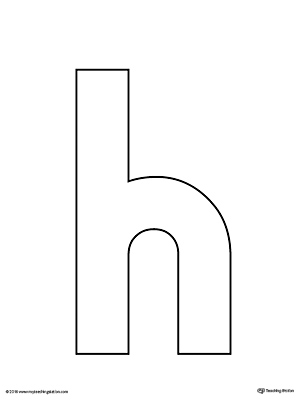 Handy image inside printable letter h