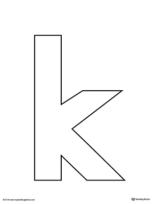This is a graphic of Transformative Printable Letter K