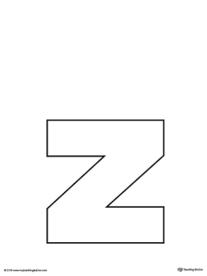 Lowercase Letter Z Uppercase and Lowercas...