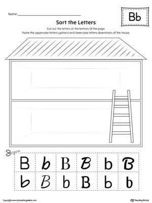 Sort the Uppercase and Lowercase Letter B Worksheet
