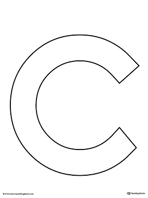 Dynamite image within letter c printable template