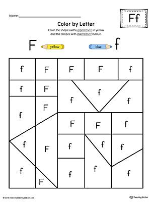 Free Printable Letter F Writing Practice Worksheet for Kindergarten