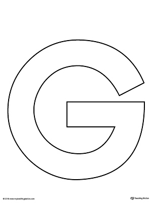 Magic image pertaining to printable letter g