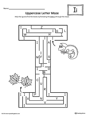 Letter I Tracing and Writing Printable Worksheet ...