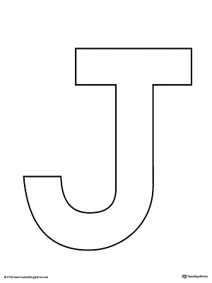 Uppercase Letter J Template Printable | MyTeachingStation.com