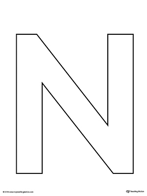 This is a photo of Ambitious Printable Letter N