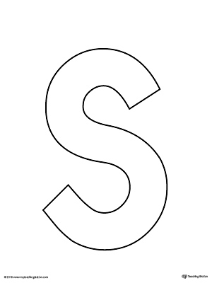 Slobbery image pertaining to printable letter s