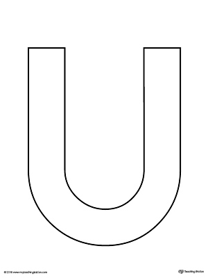 Uppercase Letter U Template Printable Myteachingstation Com