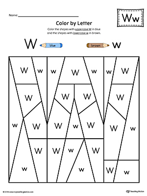 Free Tracing Letter W Worksheet