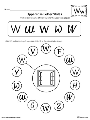 how to write lowercase letter w printable poster. Black Bedroom Furniture Sets. Home Design Ideas