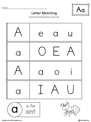 Preschool Printable Worksheets Myteachingstation