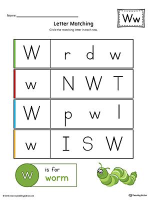 Preschool Alphabet Printable Worksheets Myteachingstation
