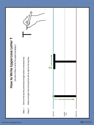 Kindergarten printable worksheets myteachingstation how to write uppercase letter t printable poster color expocarfo Choice Image