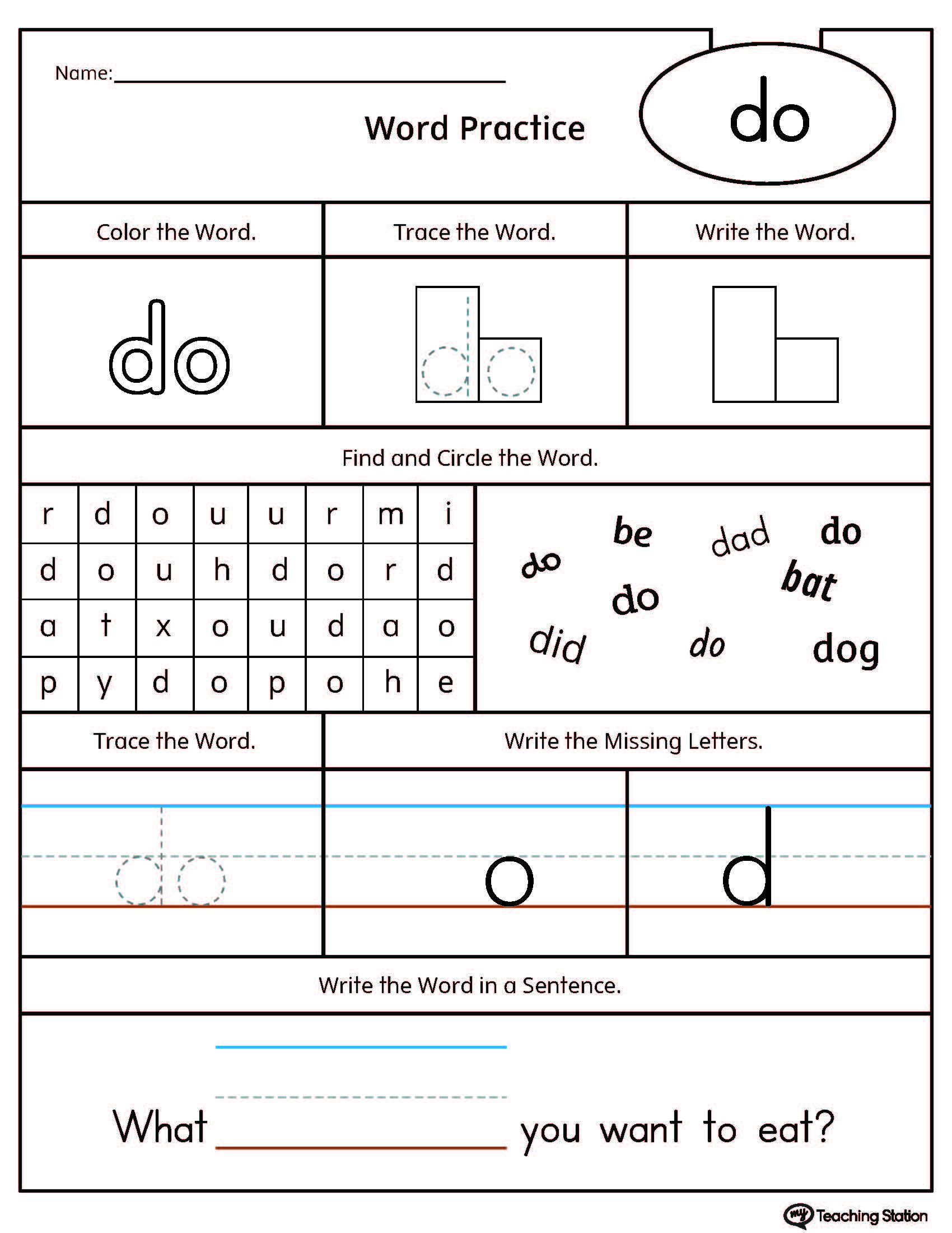 worksheet Create Tracing Worksheets preschool writing printable worksheets myteachingstation com high frequency word do worksheet